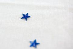 Adorno de la estrella azul Fotos de archivo libres de regalías