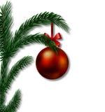 Adorno de la Navidad en una rama de un árbol de navidad Fotos de archivo libres de regalías