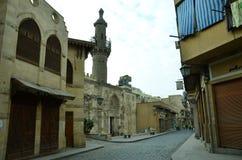 Adorno de la puerta del barqoq del sultán en Egipto Imagenes de archivo