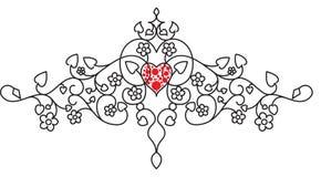 Adorno de la tarjeta del día de San Valentín Imágenes de archivo libres de regalías