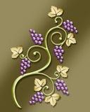 adorno de la vid de uva de la vendimia