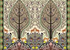 Adorno de las vidas del bosque del batik Fotos de archivo libres de regalías