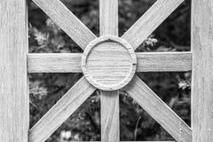 Adorno de madera en cerca Fotografía de archivo libre de regalías