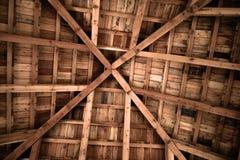 Adorno de madera de la textura del diseño de la estructura del techo Fotografía de archivo