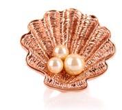 Adorno de oro de la joyería aislado Imagen de archivo libre de regalías