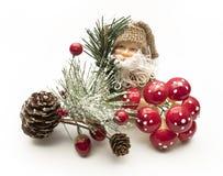 Adorno de Papá Noel de la Navidad sobre el fondo blanco Foto de archivo