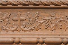Adorno de talla de madera imagen de archivo
