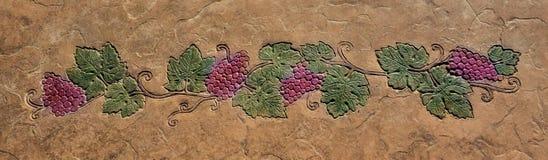 Adorno decorativo de la uva Imágenes de archivo libres de regalías