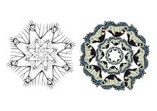 Adorno decorativo del estampado de flores Imagenes de archivo