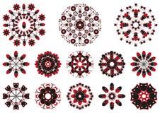 Adorno decorativo del estampado de flores Fotografía de archivo libre de regalías