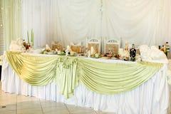 Adorno del banquete elegante prepering para el occ de la celebración especialmente Fotos de archivo libres de regalías