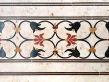 Adorno del mármol de Inlayed de flores y de vides imágenes de archivo libres de regalías