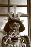 Adorno del samurai en blanco y negro Fotos de archivo libres de regalías