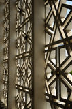 Adorno externo de la pared en la mezquita nacional aka Masjid Negara de Malasia Fotografía de archivo libre de regalías
