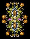 Adorno floral de la vendimia Fotos de archivo