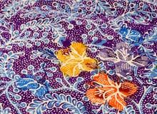 Adorno floral del batik   Imágenes de archivo libres de regalías