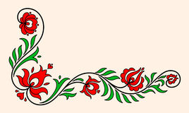 Adorno floral húngaro tradicional Foto de archivo libre de regalías