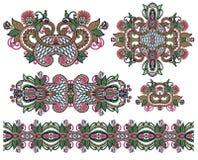 Adorno floral ornamental Imagen de archivo libre de regalías