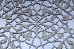 Adorno floral que talla el modelo hecho de GRC en el exterior constructivo Foto de archivo