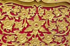 Adorno floral tailandés Imagen de archivo libre de regalías