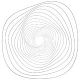 Adorno geométrico circular Elemento abstracto de Op. Sys.-arte del grayscale stock de ilustración