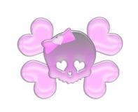 Adorno lindo rosado del cráneo Foto de archivo