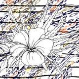 Adorno moderno de la selva de las rayas Blanco negro stock de ilustración