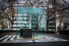 Adorno-Monument in Frankfurt, Deutschland Stockfotos