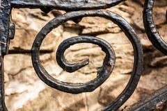 Adorno negro del hierro labrado - letra G Imágenes de archivo libres de regalías
