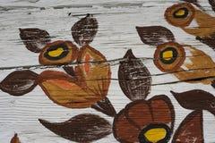 Adorno pintado de la flor Imagen de archivo
