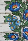 Adorno pintado de la flor vertical Fotografía de archivo libre de regalías