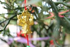 Adorno por Año Nuevo lunar chino Fotografía de archivo