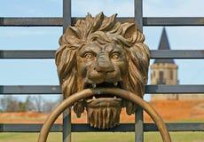Adorno principal del león Fotos de archivo