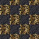 Adorno repitable de la geometría moderna abstracta para el diseño superficial Oro fresco y modelo inconsútil negro Fotografía de archivo libre de regalías