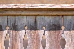 Adorno tallado en la madera vieja Imagen de archivo libre de regalías