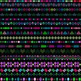 Adornos étnicos con los elementos multicolores Imágenes de archivo libres de regalías