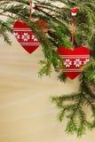 adornos de la Navidad Foto de archivo