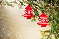 adornos de la Navidad Foto de archivo libre de regalías