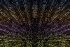 Adornos del ala del pavo real Imagenes de archivo