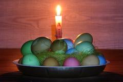 Adornos en el tema de Pascua Fotos de archivo
