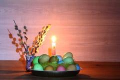 Adornos en el tema de Pascua Fotografía de archivo libre de regalías