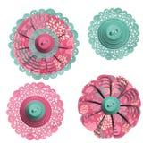 Adornos decorativos del botón Imagenes de archivo