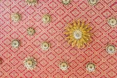 Adornos florales del techo Fotografía de archivo