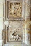 Adornos heráldicos en el castillo Chambord Foto de archivo