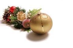 Adornos y decoraciones de la Navidad Imagen de archivo libre de regalías