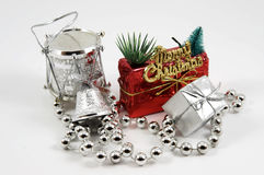 adorntments圣诞节查出的结构树 免版税库存图片
