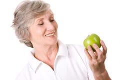 adoruje jabłka ja Obraz Royalty Free