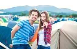 Ados au festival d'été Photographie stock libre de droits
