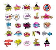 Ados de hippies réglés des stikers Image stock