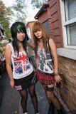 Ados de punk et de skinhead sur le marché de Chatuchak Photo libre de droits